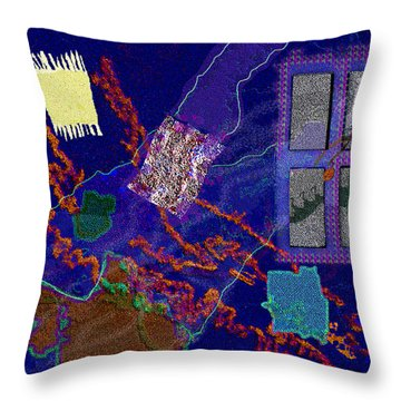 Winter Remnants Throw Pillow by Mathilde Vhargon
