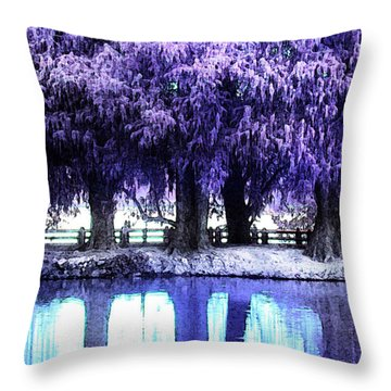 Winter Rest Throw Pillow