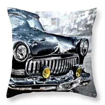 Winter Road Warrior Throw Pillow