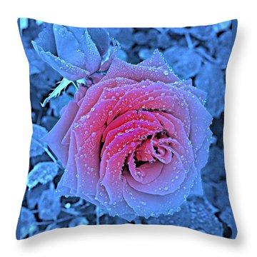 Winter-rose Throw Pillow