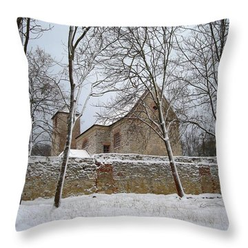 Throw Pillow featuring the photograph Old Monastery by Gabriella Weninger - David