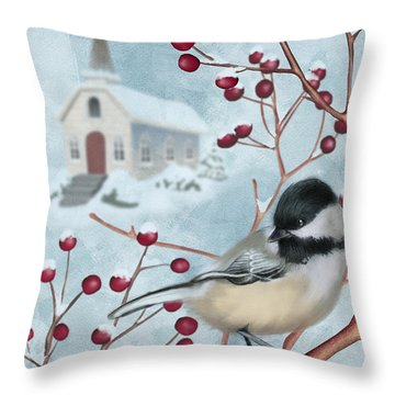 Winter Scene I Throw Pillow