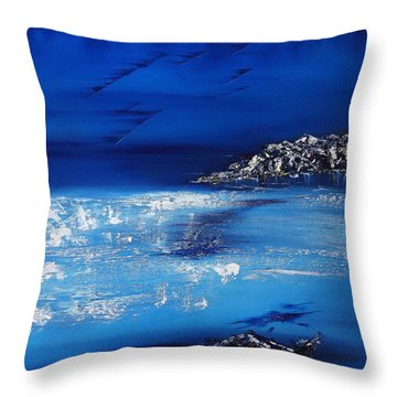 Winter Scene In The Alps Throw Pillow by David Hatton