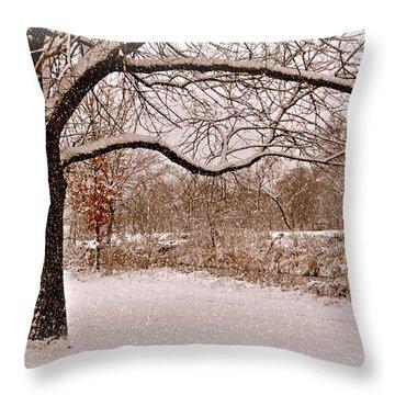 Winter Scene Throw Pillow by Marty Koch