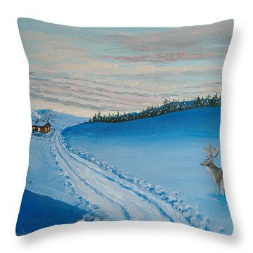 Winter Sentinel Throw Pillow