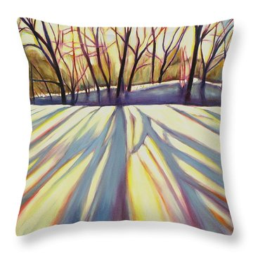 Winter Shadows Throw Pillow by Sheila Diemert