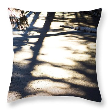 Throw Pillow featuring the photograph Winter Shadows by Yulia Kazansky