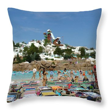 Throw Pillow featuring the photograph Winter Shore Line by David Nicholls