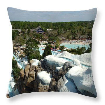 Throw Pillow featuring the photograph Winter Slides by David Nicholls