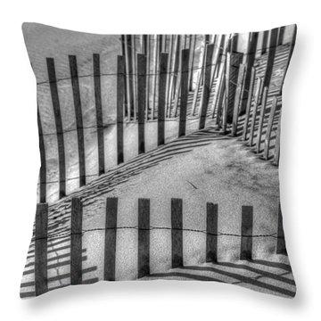Winter Snowfence 2 Throw Pillow