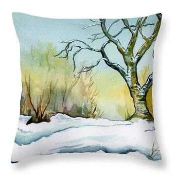 Winter Solitude Throw Pillow by Brenda Owen