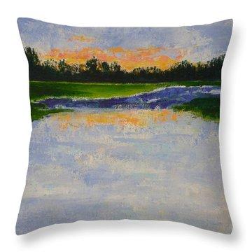 Winter Solstice Sunrise Throw Pillow