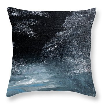 Winter Sparklers Throw Pillow by Alys Caviness-Gober