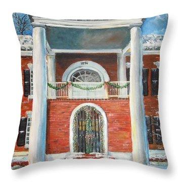 Winter Spirit In Dahlonega Throw Pillow