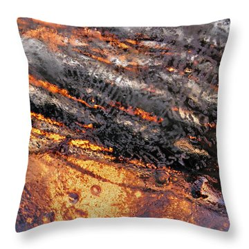 Winter Steam Throw Pillow by Sami Tiainen