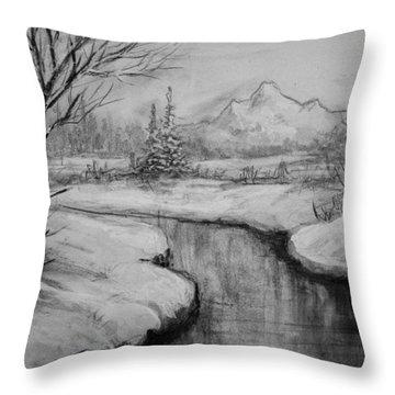 Winter Stillness Throw Pillow by C Steele