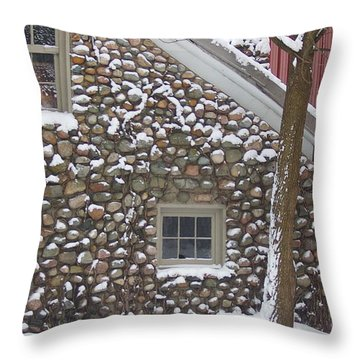 Throw Pillow featuring the photograph Winter Stone Pattern by Randy Pollard