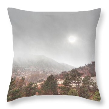 Winter Storm In Summer With Sun Throw Pillow