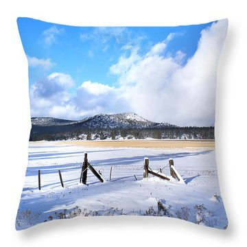 Winter Storm Moves On Throw Pillow