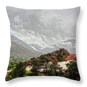 Winter Storm On A Summer Day Throw Pillow by Lanita Williams