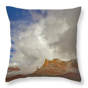 Winter Storm Throw Pillow by Tom Kelly