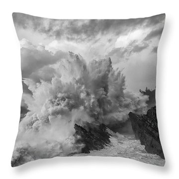 Winter Storms Throw Pillow by Patricia Davidson