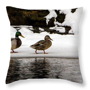 Winter Stroll Throw Pillow
