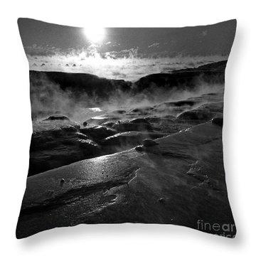 Winter Sunrise Deep Freeze Throw Pillow