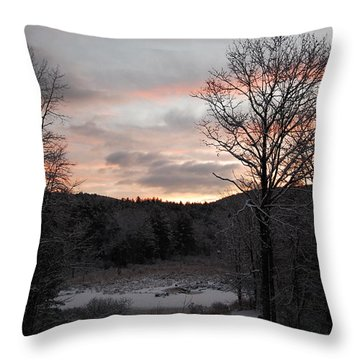 Throw Pillow featuring the photograph Winter Sunrise by Mim White