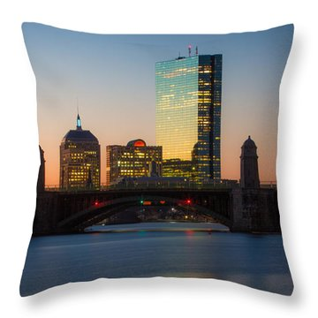 Winter Sunrise On The Charles Throw Pillow