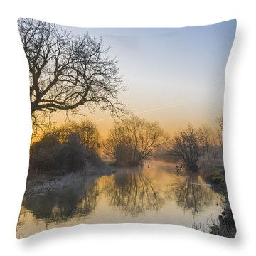 Winter Sunrise Throw Pillow by Trevor Chriss