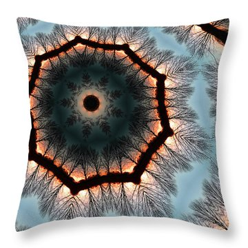 Winter Sunset Throw Pillow by Andy Prendy