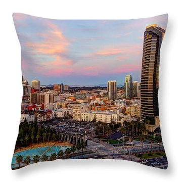 Throw Pillow featuring the photograph Winter Sunset San Diego by Heidi Smith
