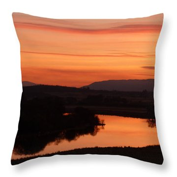 Winter Sunset - Strathspey Throw Pillow