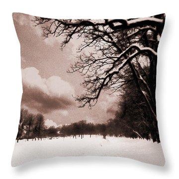 Winter Tale Throw Pillow by Nina Ficur Feenan