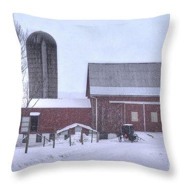 Winter Time Garrett County Maryland Throw Pillow by Dan Friend