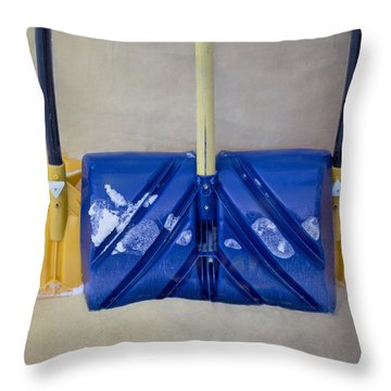 Throw Pillow featuring the photograph Winter Tools by Tom Singleton