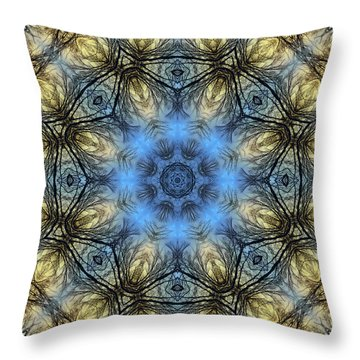 Winter Tree Mandala Throw Pillow
