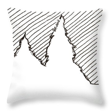 Winter Trees 2 - Aceo Throw Pillow