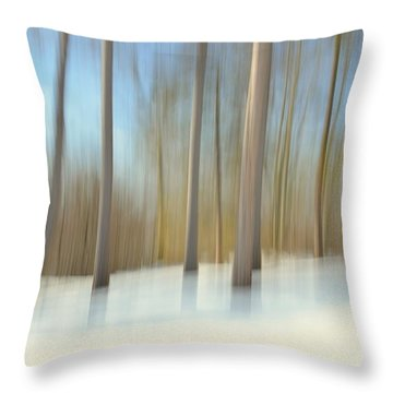Winter Trees Throw Pillow by Tricia Marchlik