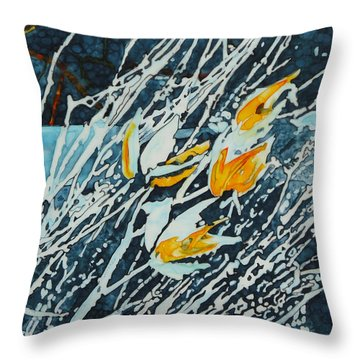 Winter Tulip Pods Throw Pillow