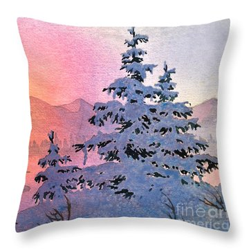 Winter Twilight Throw Pillow by Teresa Ascone