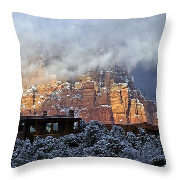 Winter View Throw Pillow by Tom Kelly