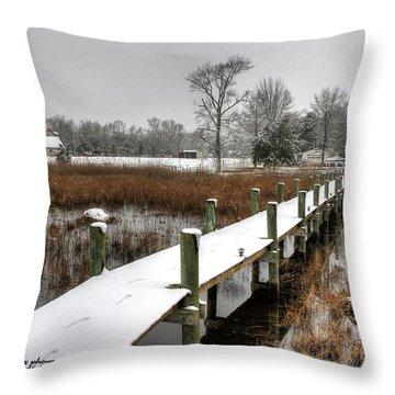 Winter Walkway Throw Pillow by John Loreaux