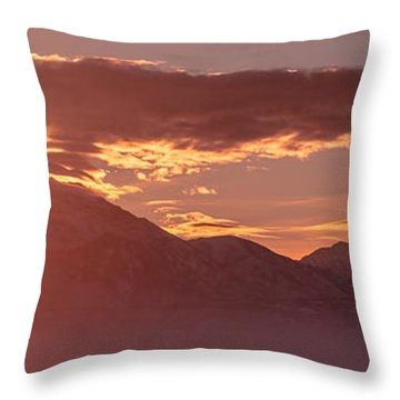 Winter Wasatch Daybreak Throw Pillow