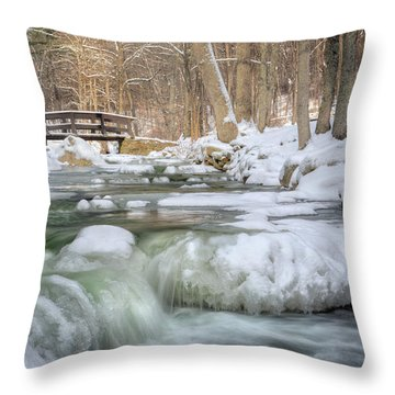 Throw Pillow featuring the photograph Winter Water by Bill Wakeley