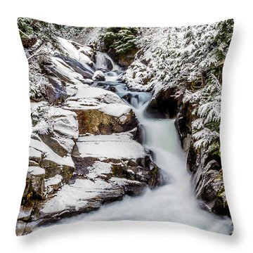 Winter Water Fall 3 Throw Pillow