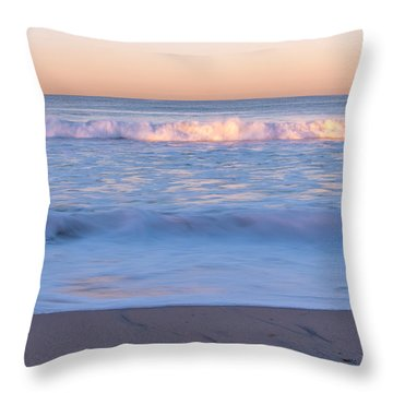 Winter Waves 7 Throw Pillow by Priya Ghose