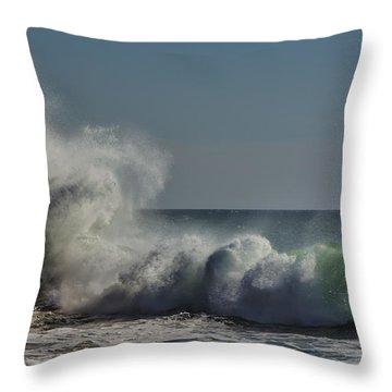 Winter Waves Throw Pillow