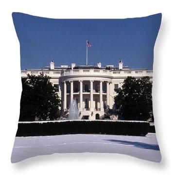 Winter White House  Throw Pillow